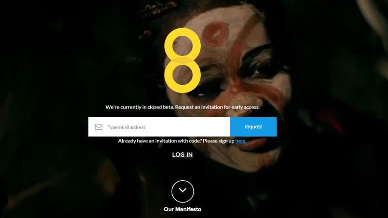 Schermata di registrazione del social network 8