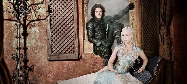 Daenerys Targaryen e Jon Snow, protagonisti di Game of Thrones