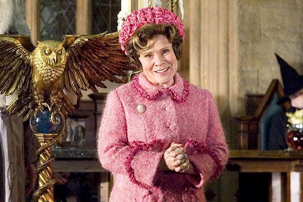 L'attrice Imelda Staunton che è Dolores Umbridge nei film di Harry Potter