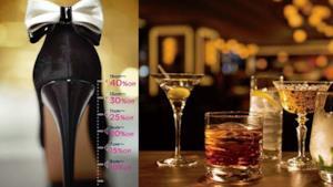 Una foto del bar giapponese che offre drink scontati alle ragazze con i tacchi alti