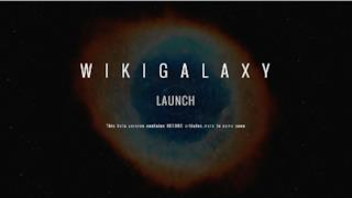 Schermata iniziale di WikiGalaxy