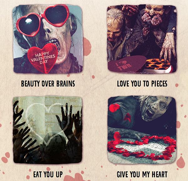 Le e-cards di San Valentino in tema The Walking Dead