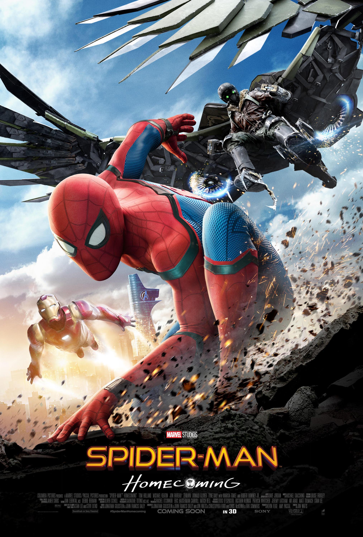 Un poster pubblicitario di Spider-Man: Homecoming