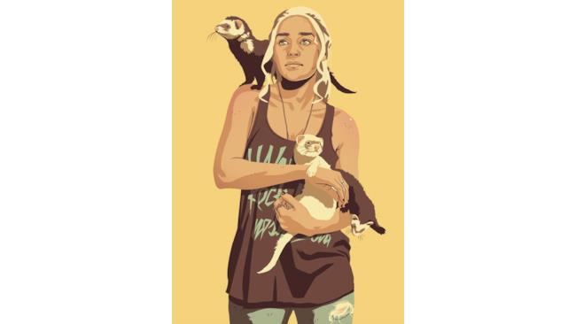 Daenerys Targaryen in stile anni '90