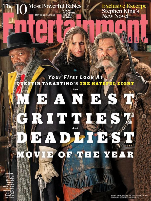 La copertina di EW dedicata a Hateful Eight
