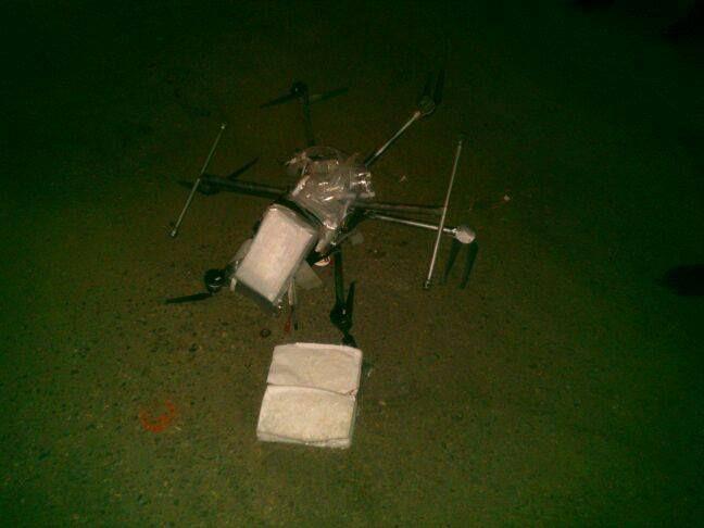 Drone schiantato con carico di metanfetamina