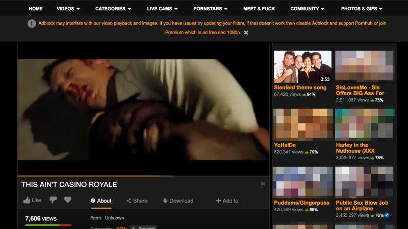Il film 007: Casino Royale in streaming gratis su PornHub