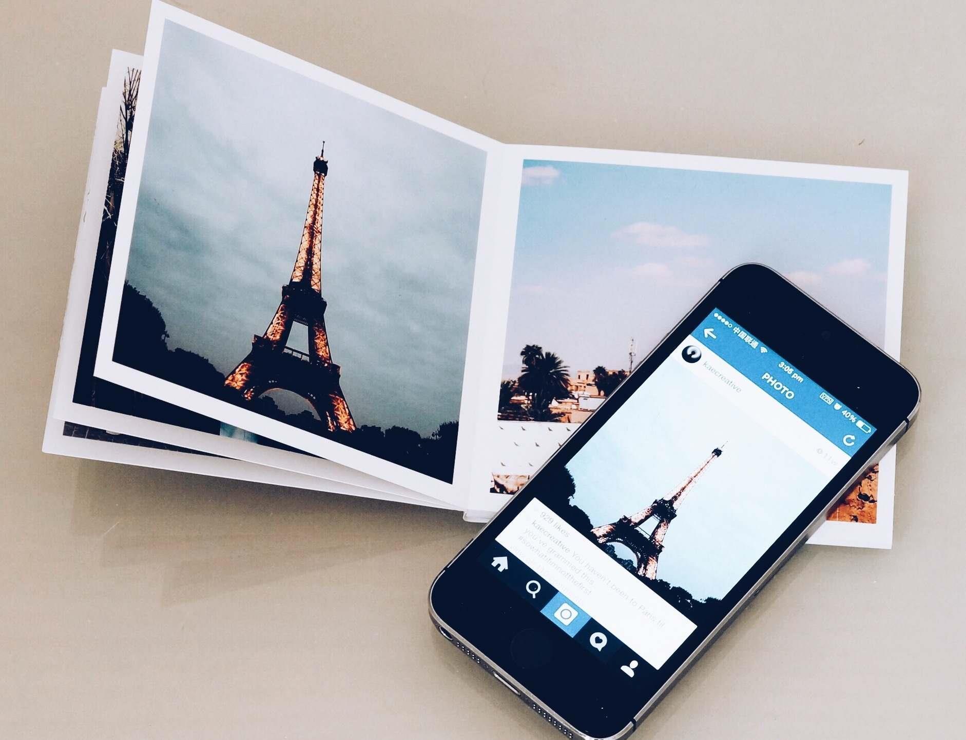 Album di foto stampate da Instagram col servizio Fastbook