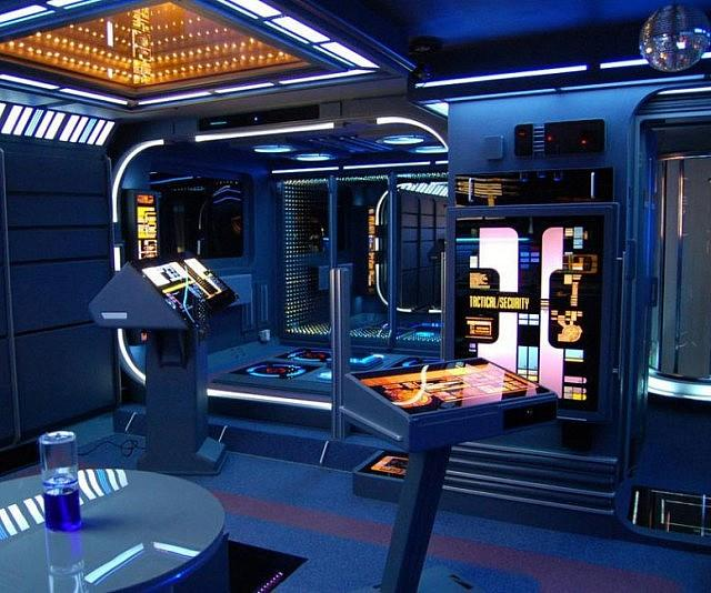 Interno dell'appartamento a tema Star Trek