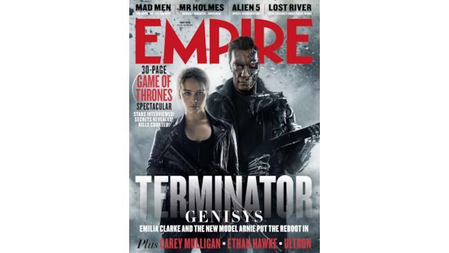 Cover di Empire Megazine dedicata a Terminator: Genisys