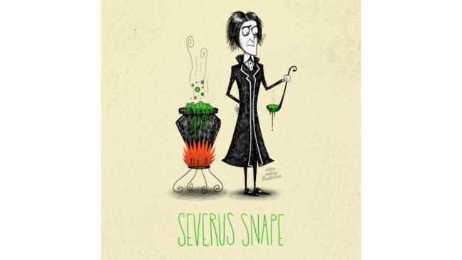 Severus Snape in stile Tim Burton