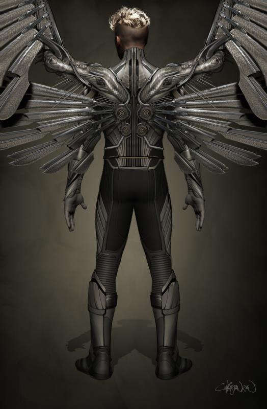 Angel in una concept art per X-Men: Apocalypse