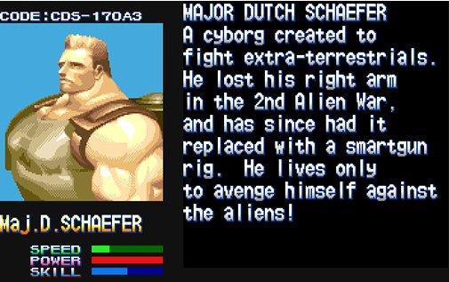 Dutch Shaffer, protagonista del gioco Aliens vs Predator