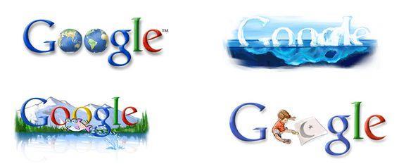 Alcuni dei passati Google Doodle per la Giornata della Terra