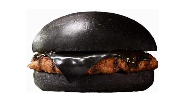 Hamburger completamente nero dal Giappone