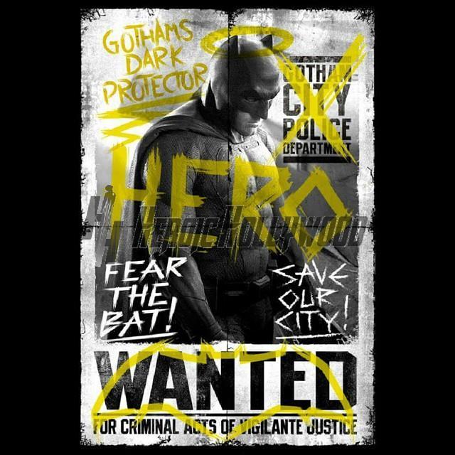 Il graffiti poster di Batman per Dawn of Justice