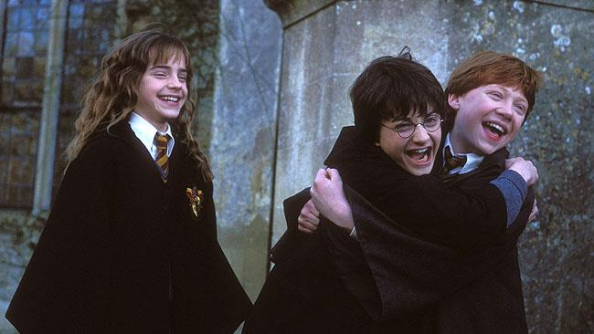 Il trio di Harry Potter nei film