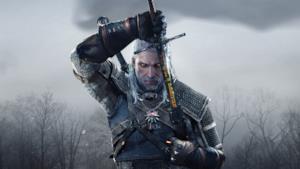 Geralt di Rivia sfodera la sua spada magica