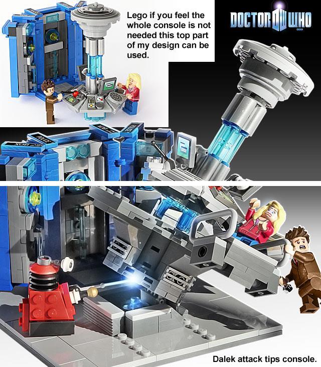 L'interno della LEGO TARDIS