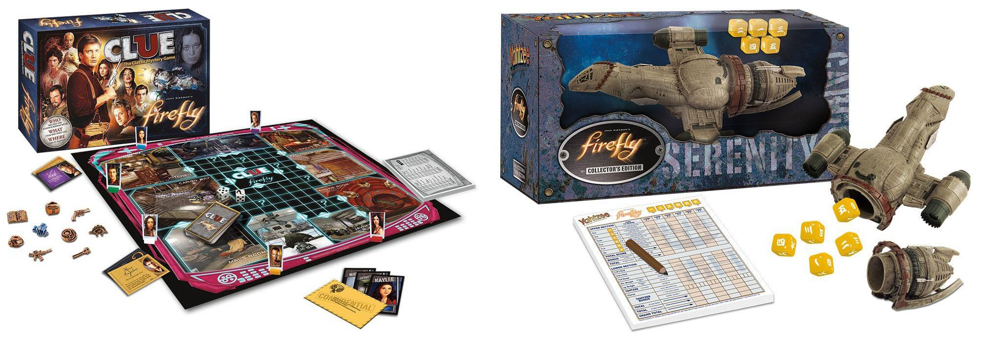 I giochi da tavolo di Firefly: cluedo e yahtzee