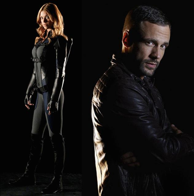 Barbara Morse e Lance Hunter in Agents of SHIELD