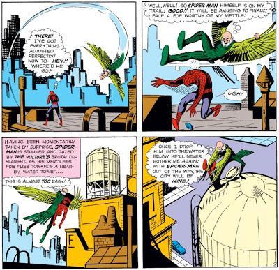 Vulture batte Spider-Man