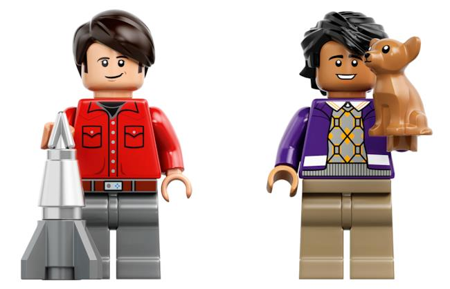 Howard e Raj nel set LEGO di The Big Bang Theory