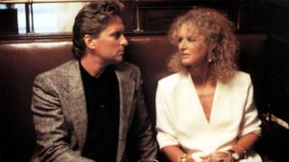 Michael Douglas e Glenn Close in Attrazione Fatale