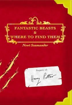 La copertina del libro Fantastic Beasts and Where to Find Them