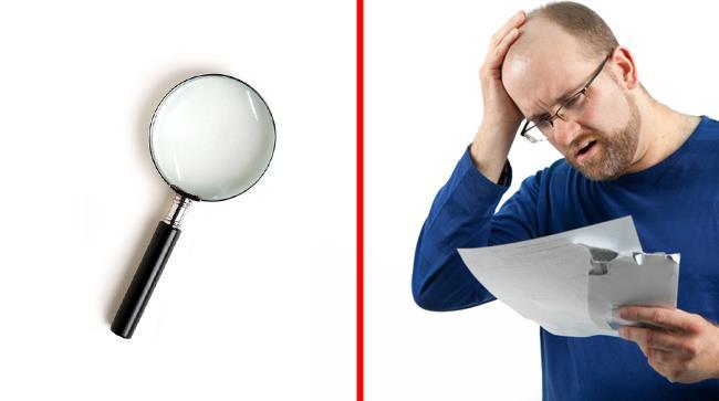 Un uomo vuole allungarsi il pene, ma trova una lente di ingrandimento