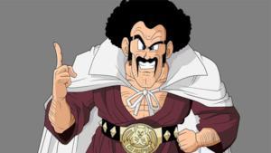 Mr. Satan combatte contro Cell