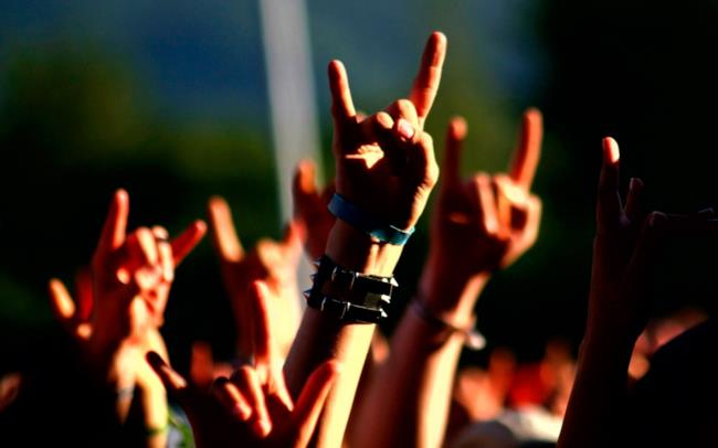 Folla a un concerto metal