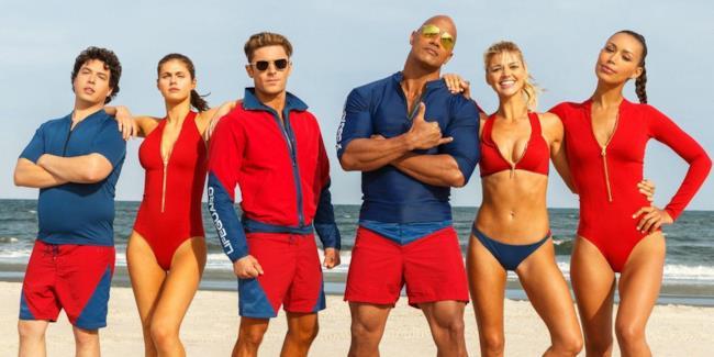 I sei componenti del cast di Baywatch