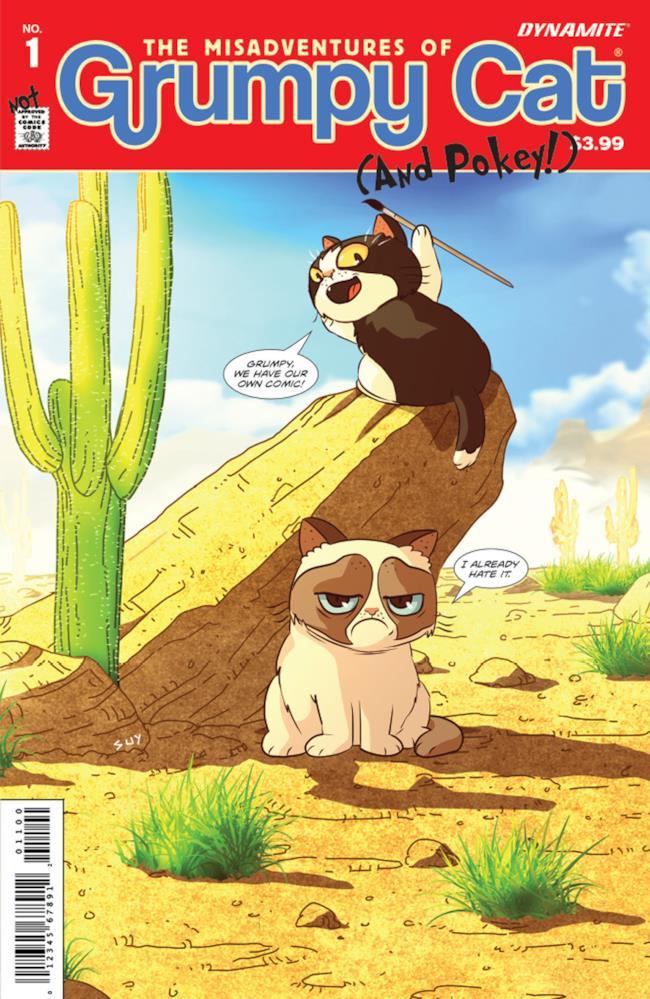 Copertina del primo fumetto di Grumpy Cat e Pokey