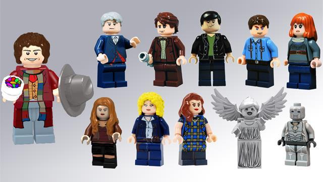 I personaggi proposti per il set LEGO di Doctor Who