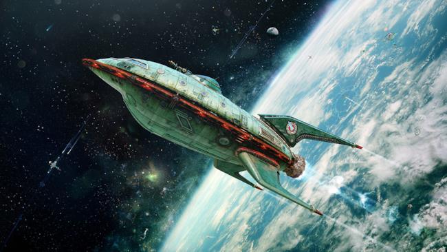 Immagine realistica della navetta Planet Express