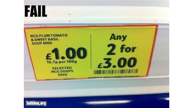 Prezzi Fail - 1