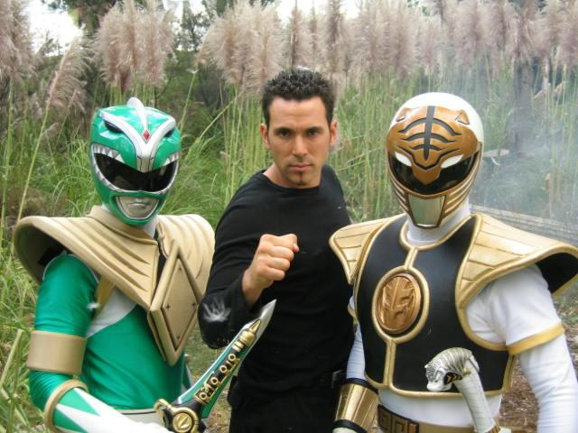 Jason David Frank sul set di Power Rangers
