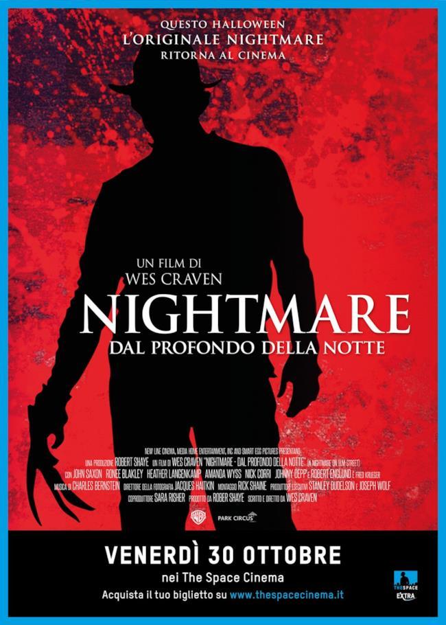 Venerdì 30 ottobre: Nightmare Dal Prodondo della Notte nei cinema