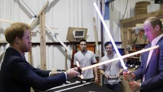 I principi William e Harry sul set di Star Wars-Episodio VIII