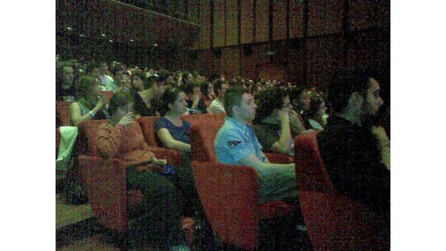 Il pubblico in sala Petrassi