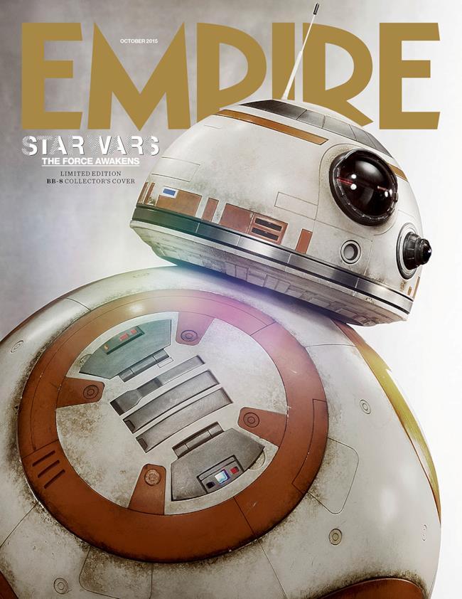 La copertina di Empire Magazine dedicata a Star Wars 7 con BB-8 in copertina