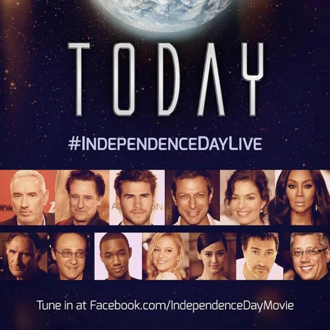 Il live-stream dell'evento legato a Independence Day 2 dove erano presenti tutti i membri del cast