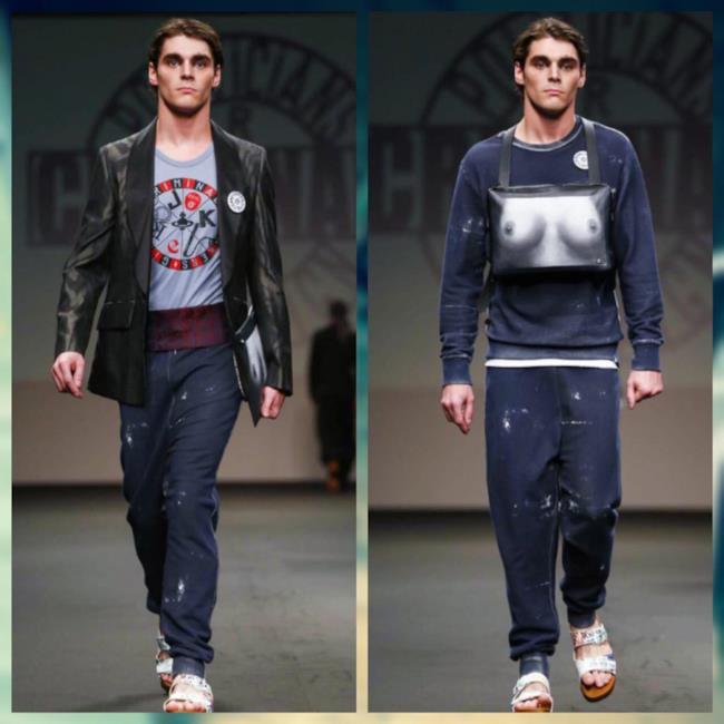 RJ Mitte modella per Vivienne Westwood a Milano