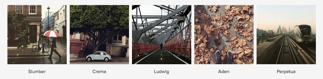 i 5 nuovi filtri di instagram