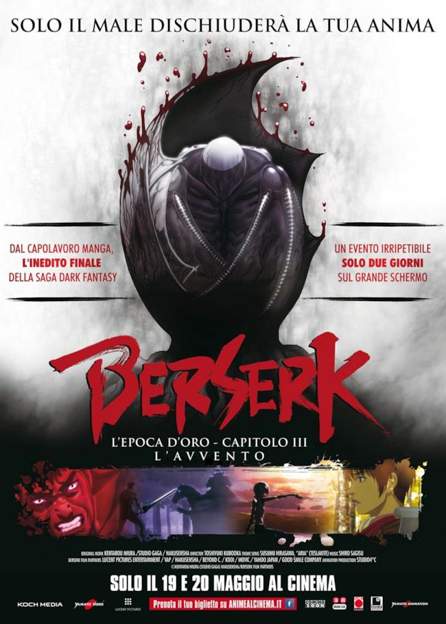 Il poster ufficiale di Berserk - L'Epoca d'Oro Capitolo III, a maggio nei cinema italiani
