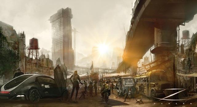 Il mondo post-apocalittico di Zorro Reborn in una concept art del 2013