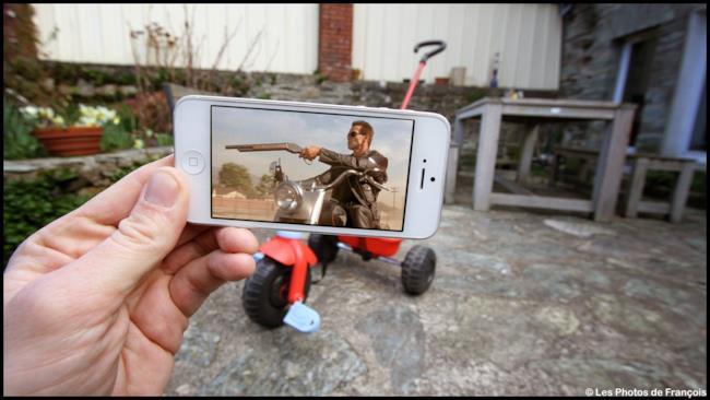 Terminator sul triciclo