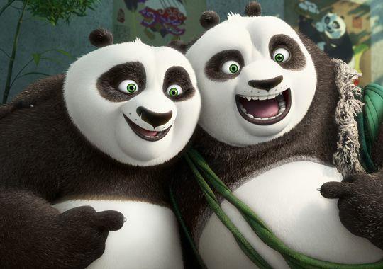 Po e suo padre Li in Kung Fu Panda 3