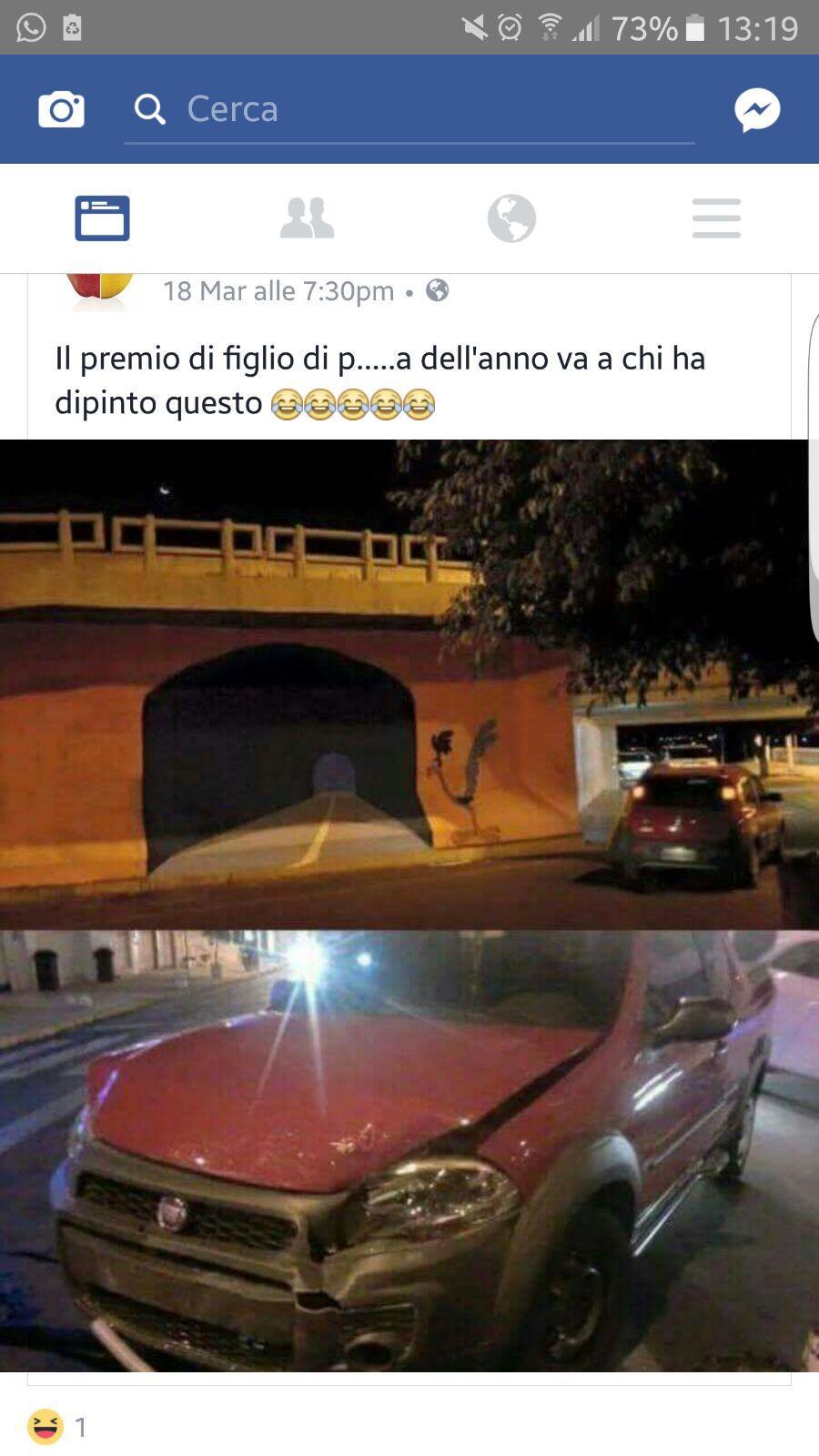 Immagini divertenti per WhatsApp - una automobile distrutta a causa di uno scherzo